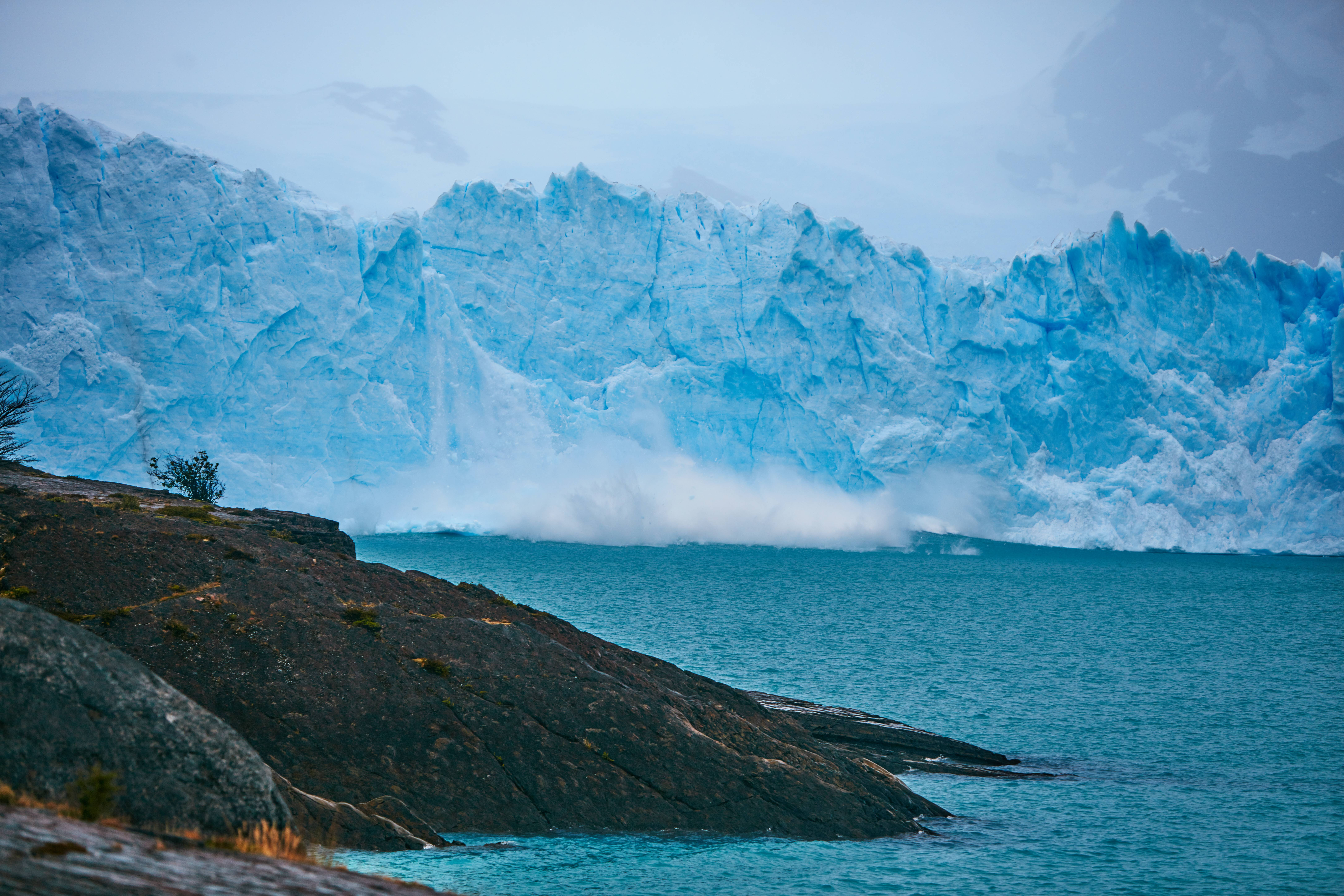 landscape photography of ice burg