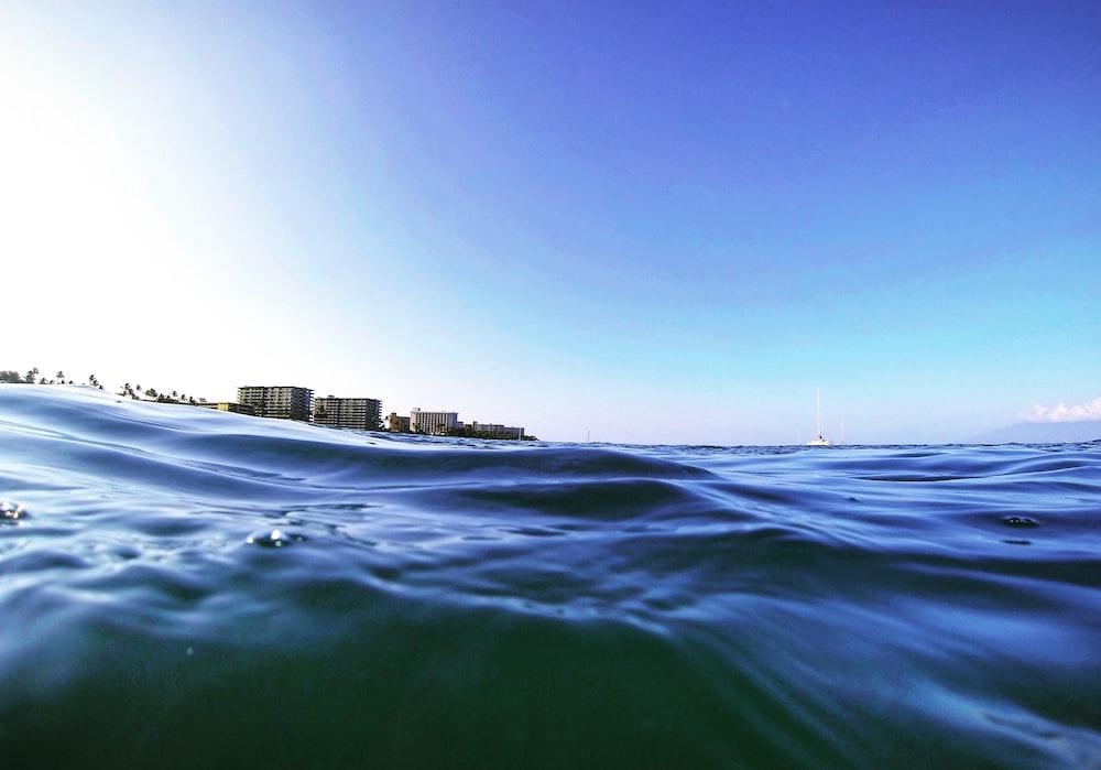 wavy body of water
