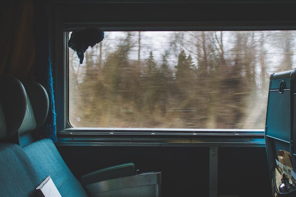 vehicle window near seat photo