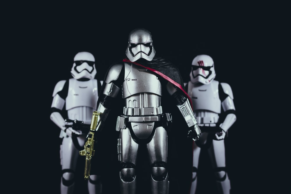 three Star Wars Stormtroopers