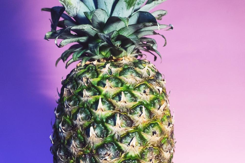 close shot of green pineapple