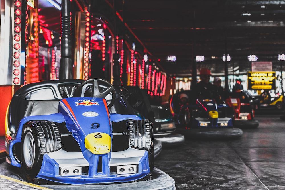 bump cars inside arcade