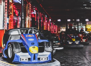 bump cars inside arcade