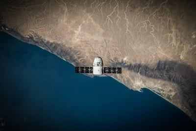 Satellite over the coast
