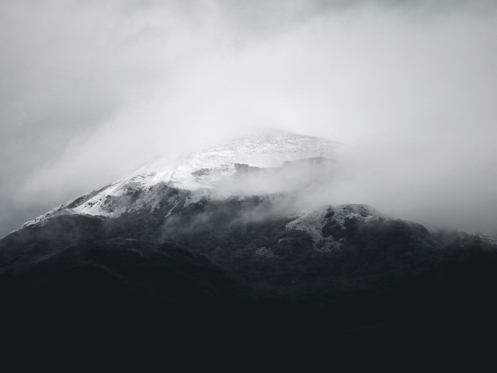 mountain surrounded with fogs