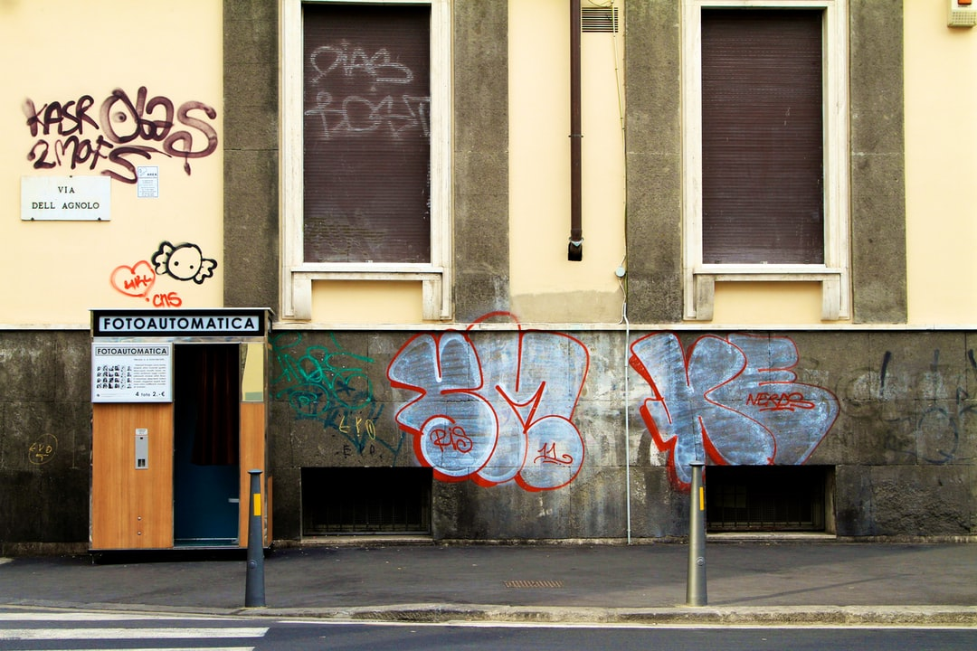 Photo booth and graffiti