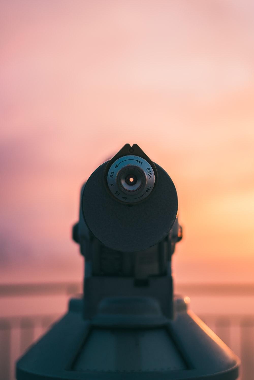 gray metal scope