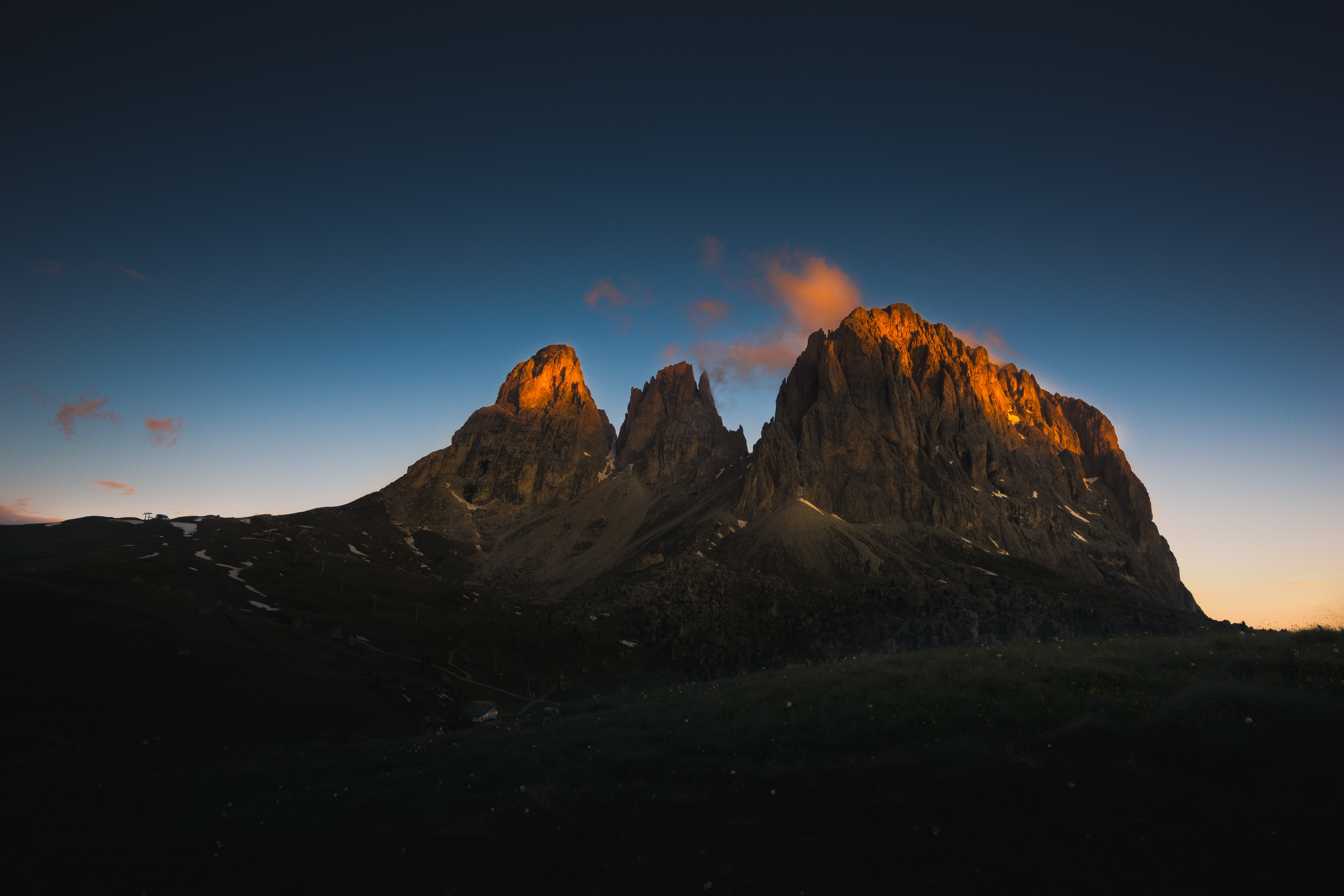 mountain during sunset