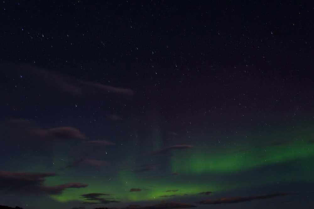 aurora borealis on night sky