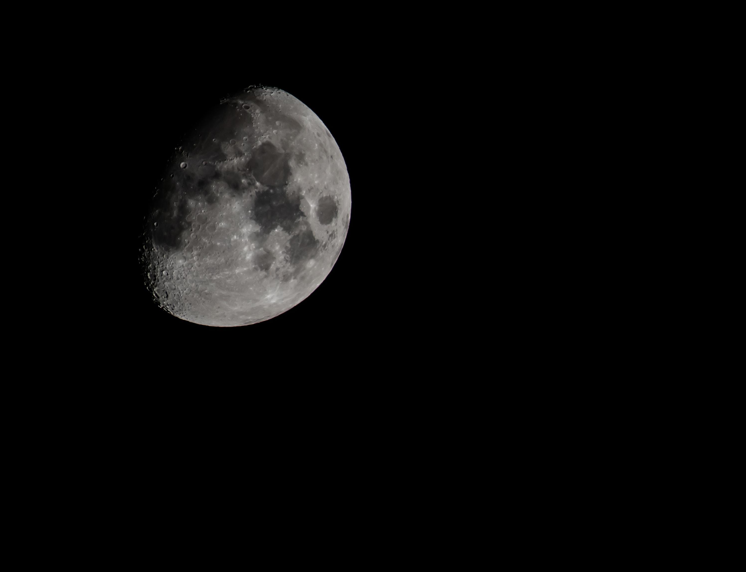 closeup moon photography