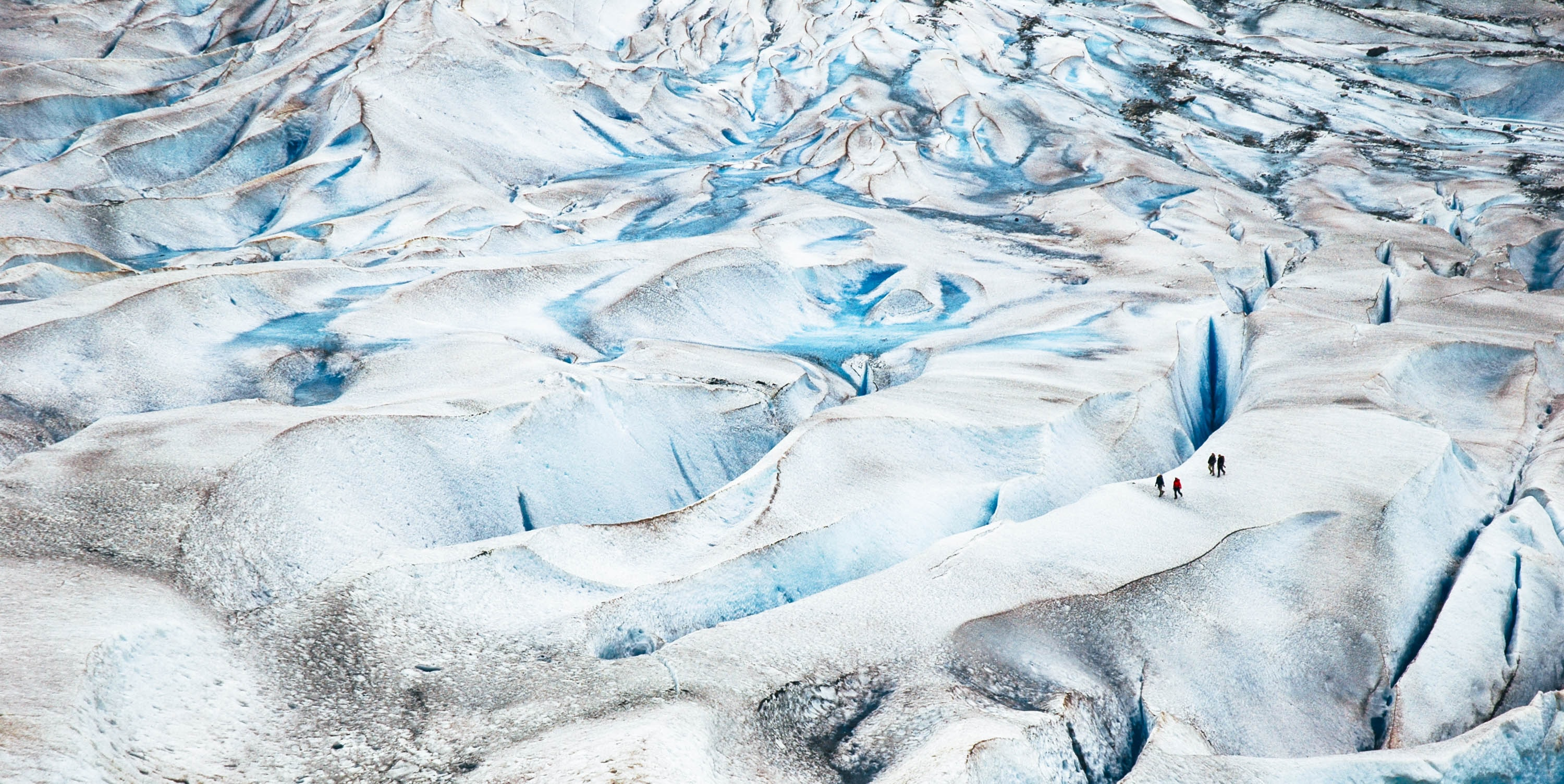white and teal Glacier