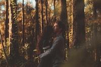 Sunlit forest hug