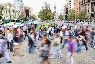 Crosswalk in long-exposure