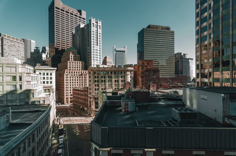 photo of a high rise buildings