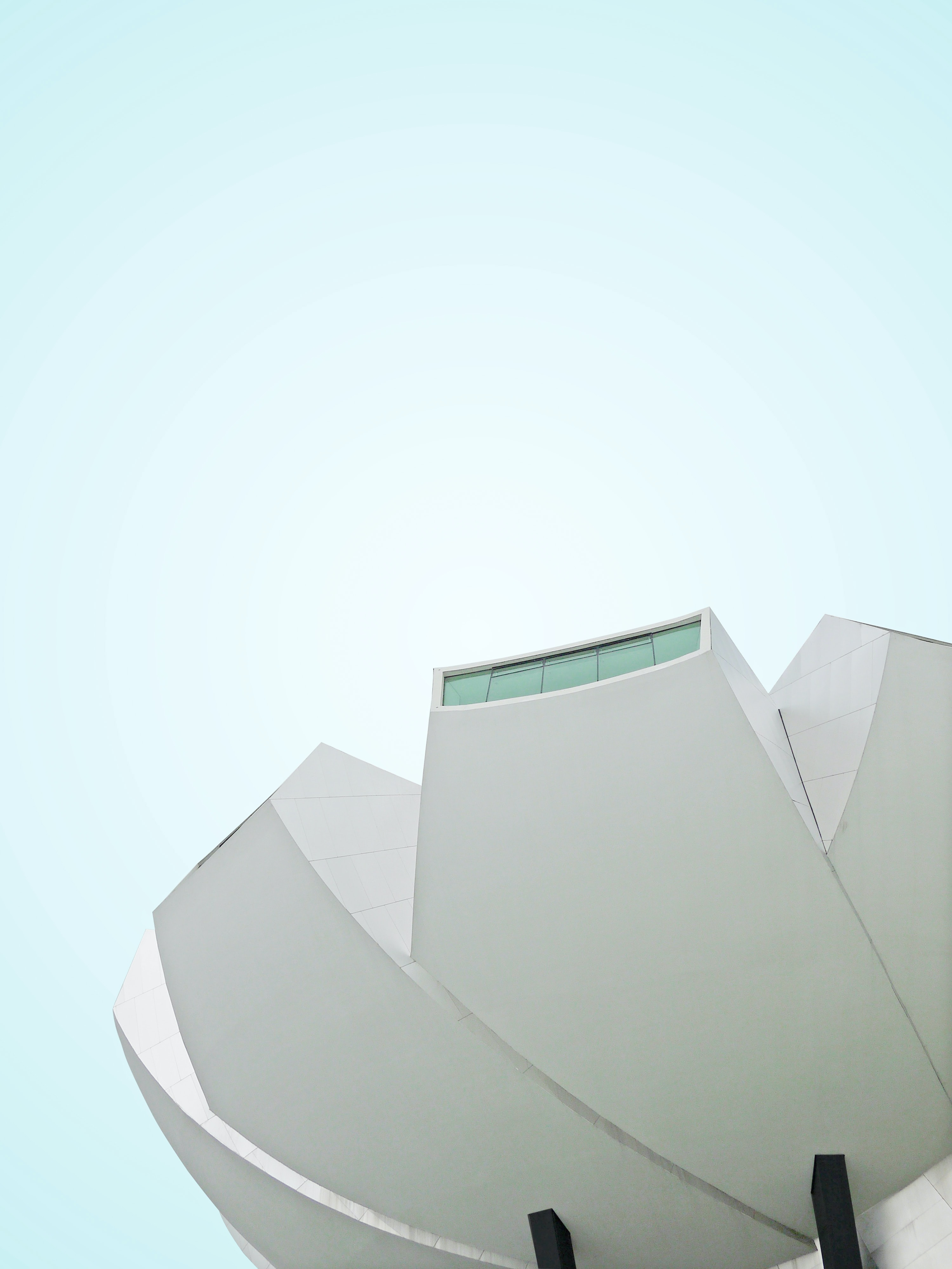 low angle photography of white painted building