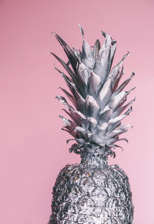gray pineapple ornament