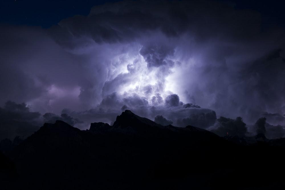 thunderstorm with lightning