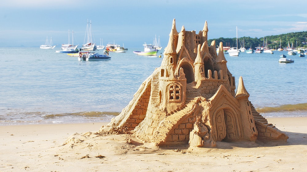 brown sand castle