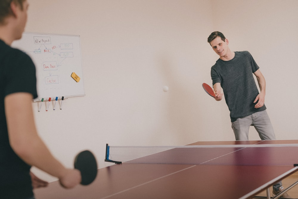 A ping-pong game in progress