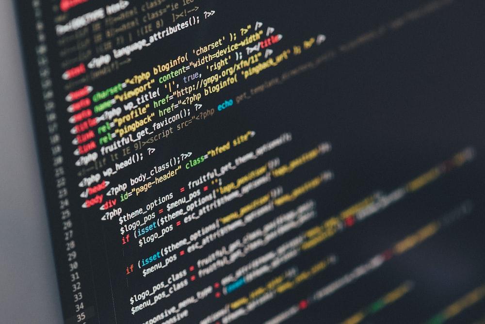 monitor showing Java programming