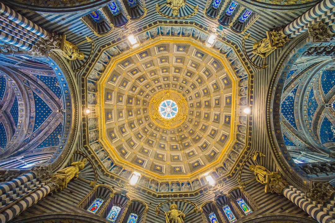 Siena church ceiling