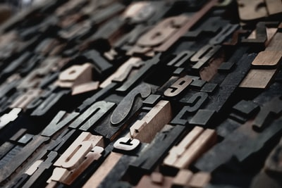 Typesetting in wood