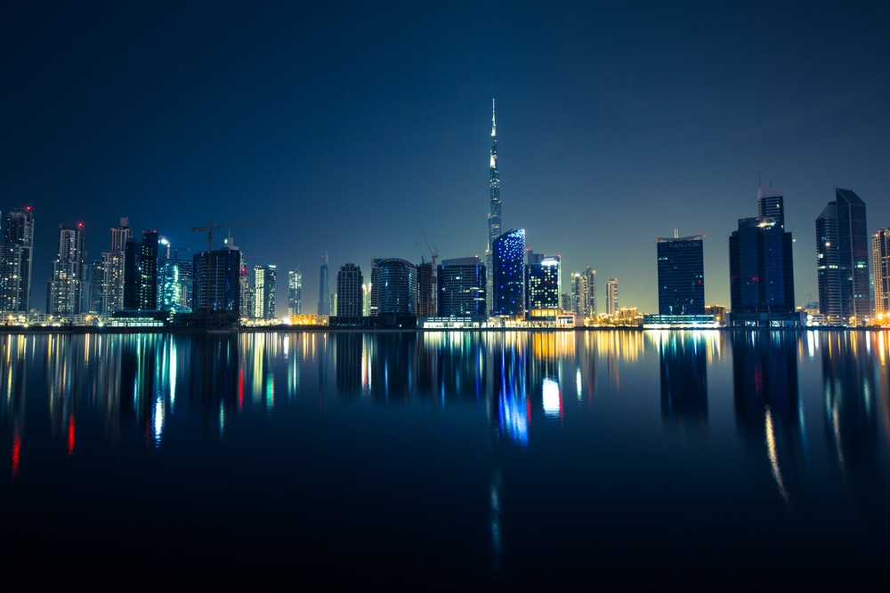 panoramic photography of the city during night
