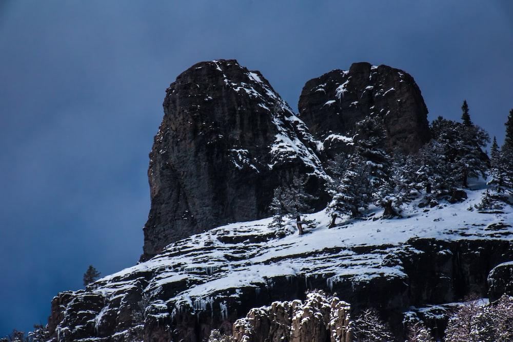 landscape photo of snow mountain