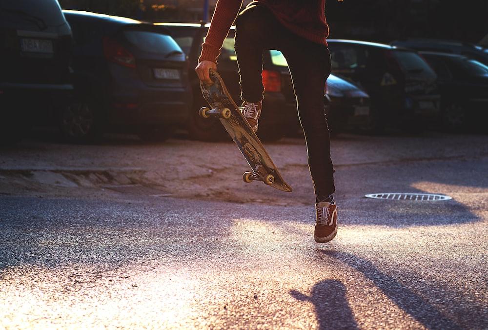 person doing tricks on skateboards