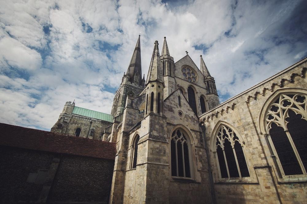 photograph of concrete church