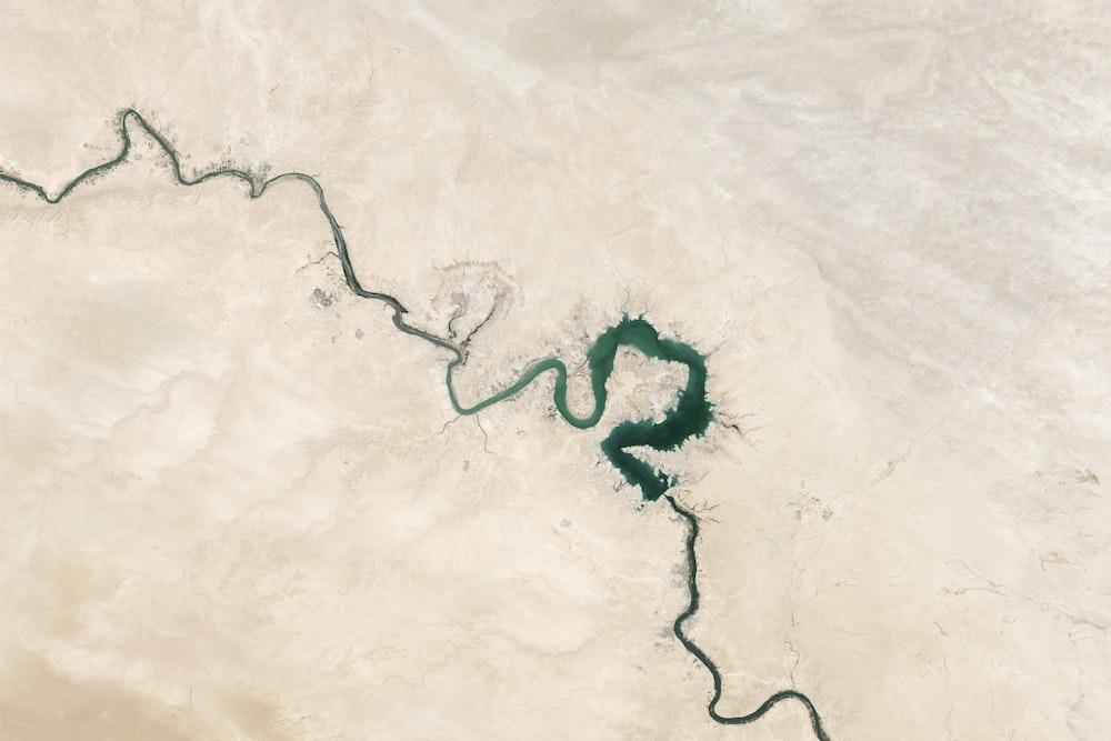 Satellite image of river