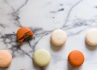 macarons on gray table