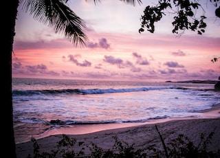 waves crashing through shore