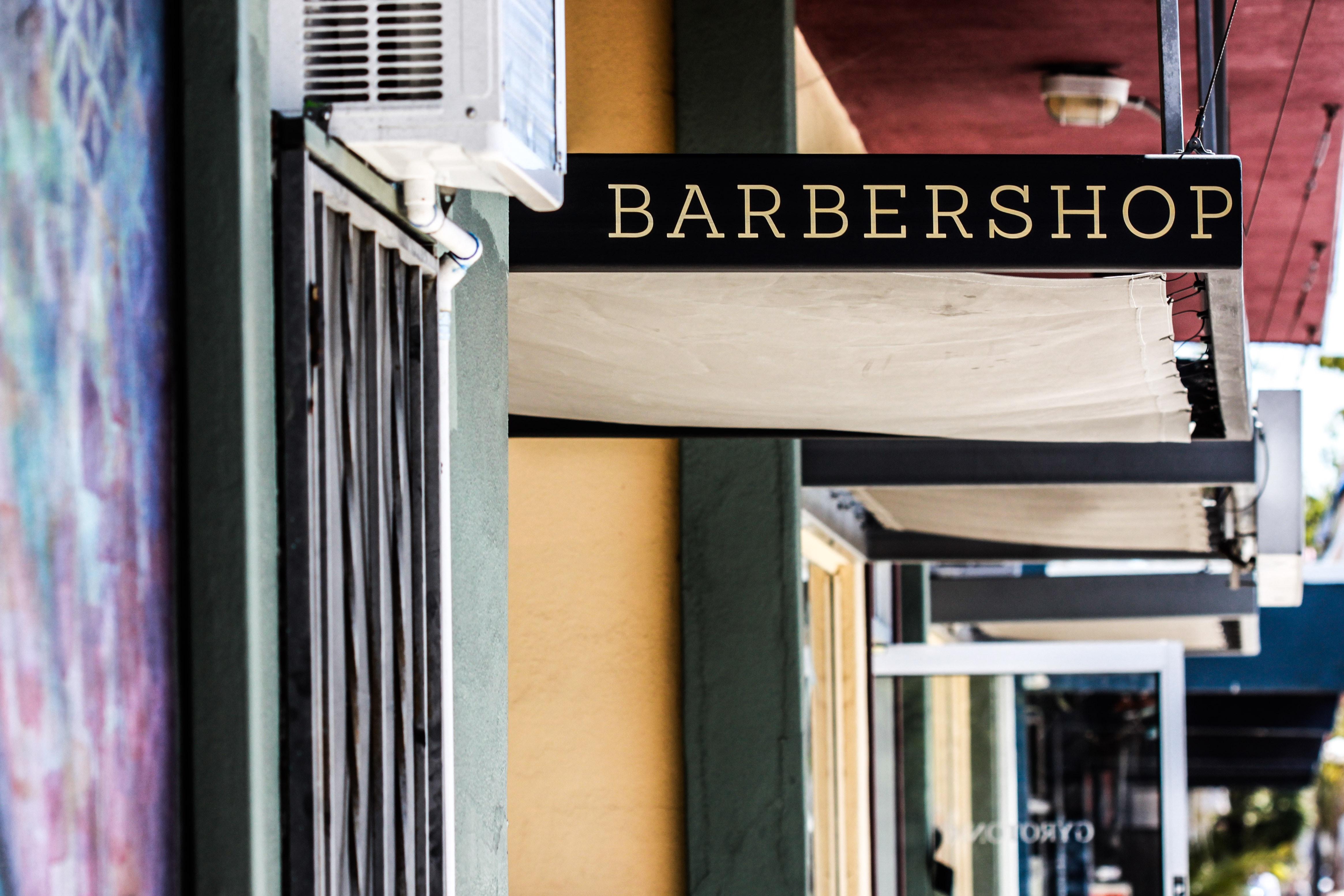 Barbershop signage