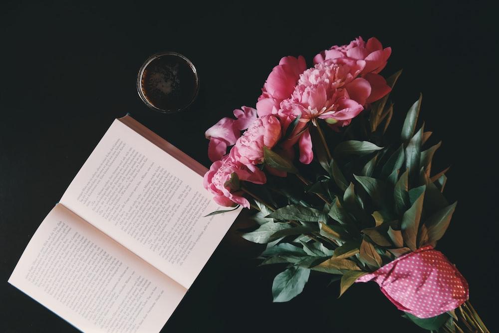 pink petaled flowers bouquet
