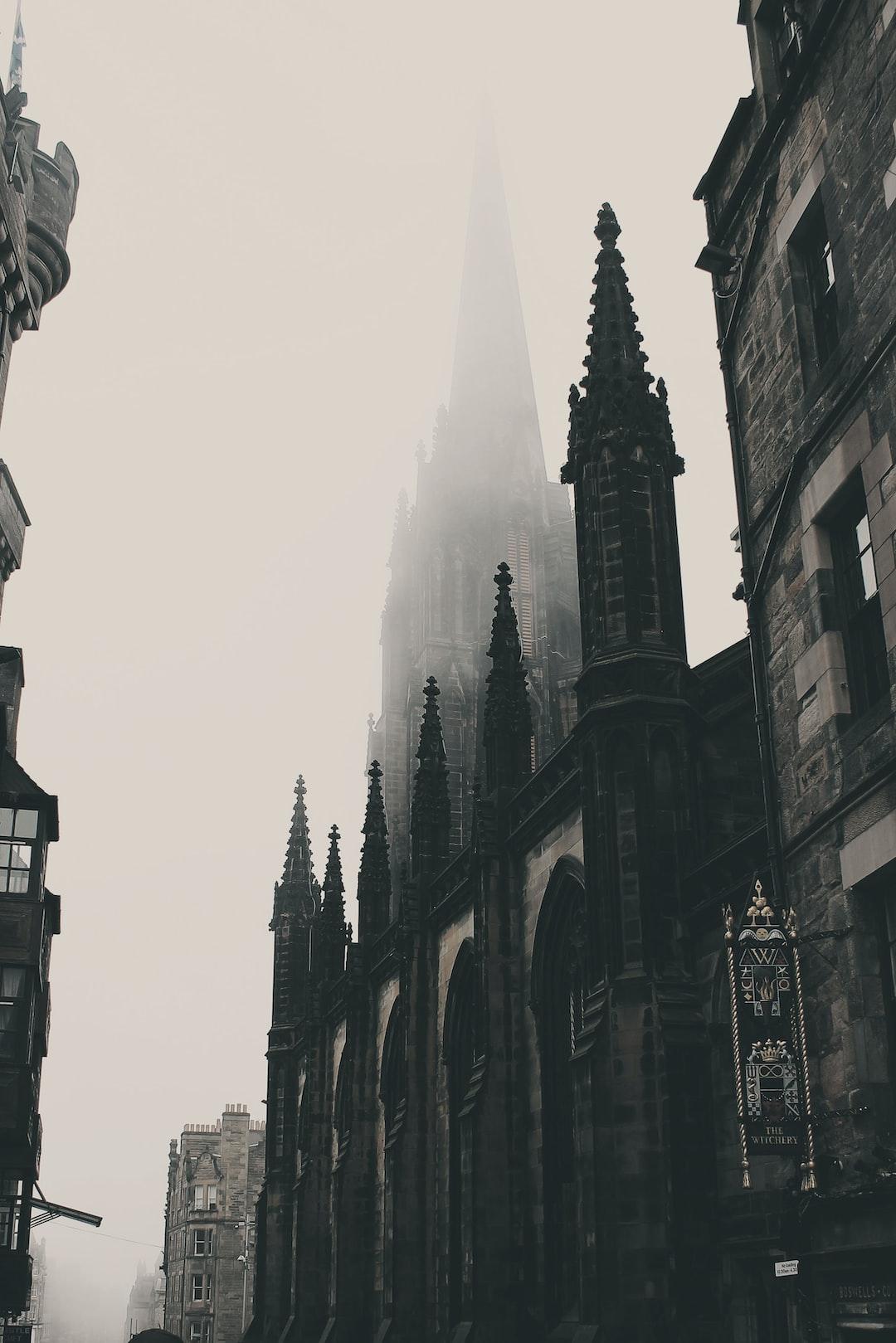 Foggy Street in Edinburgh