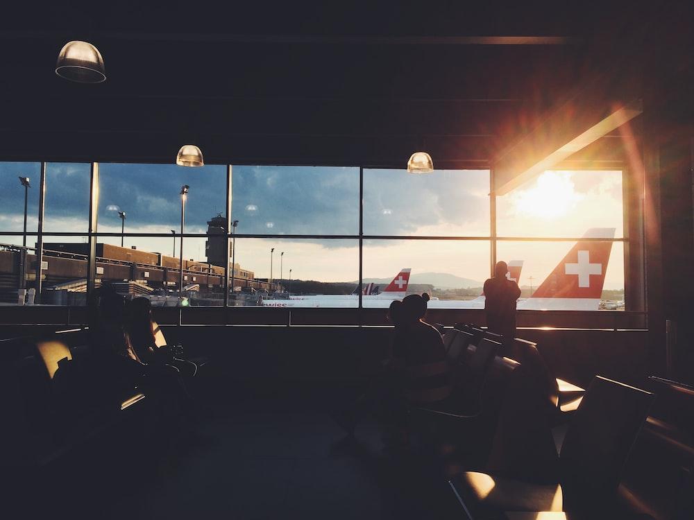 people inside airport