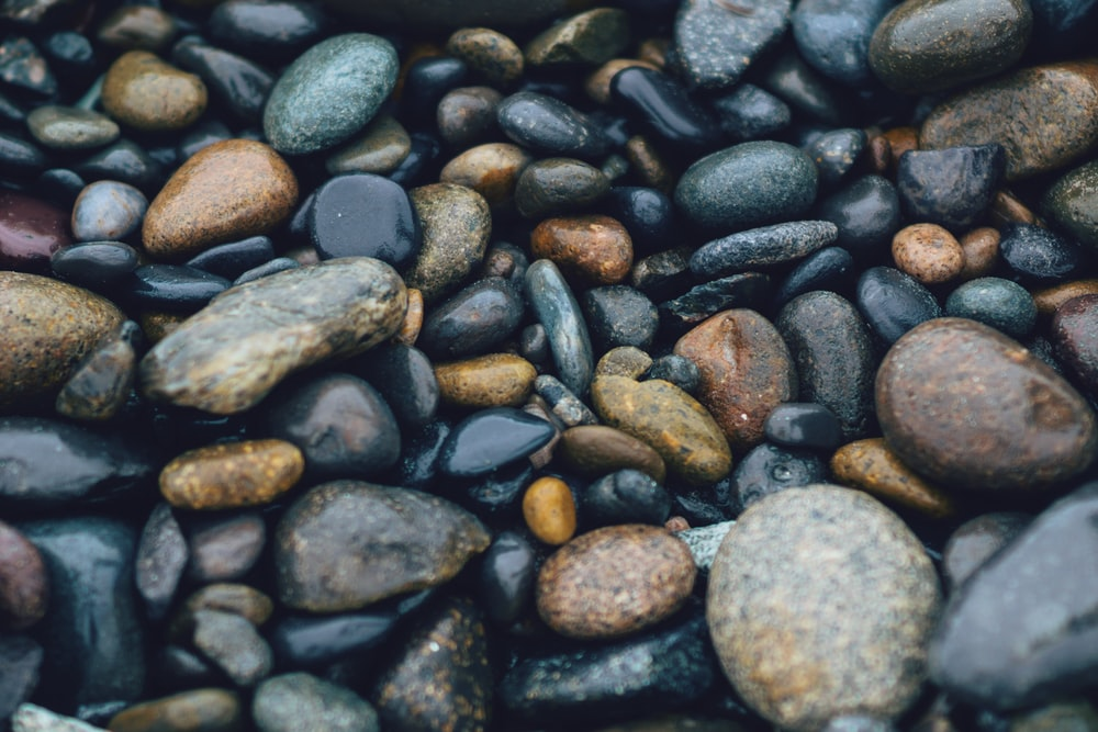 brown and black stones