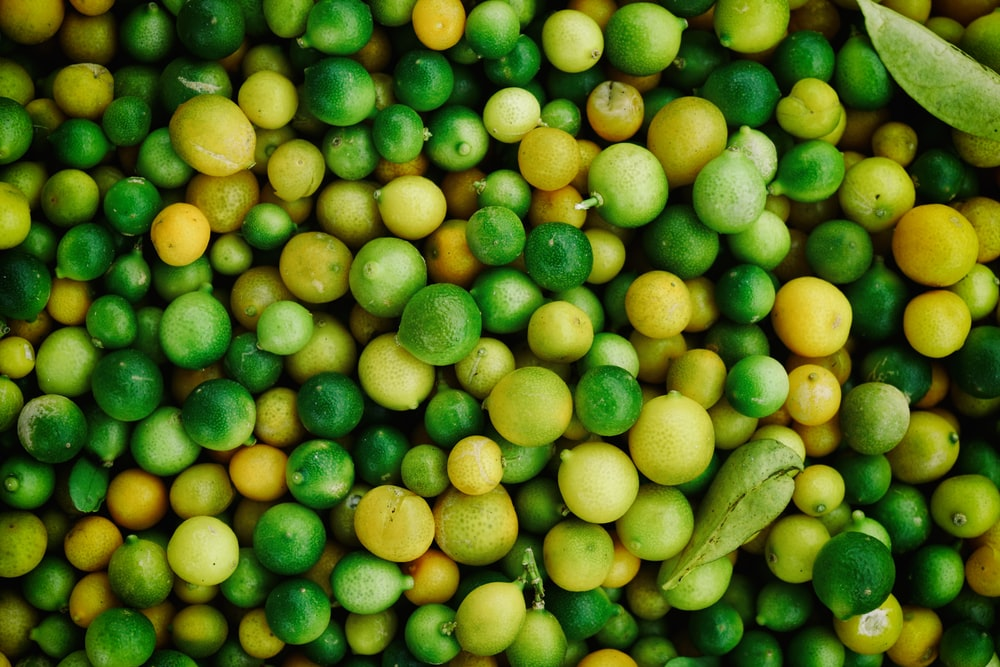 round green and yellow fruit lot