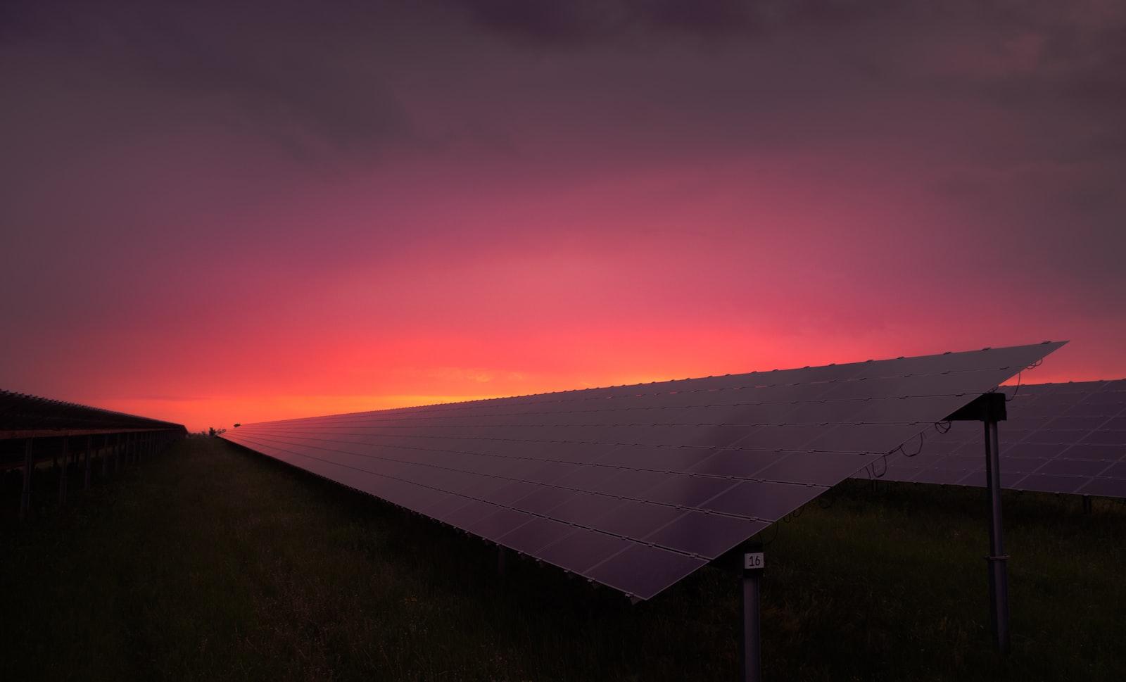 black solar panel under
