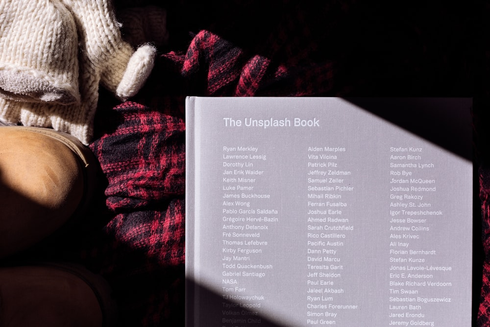 The Unsplash Book on red textile