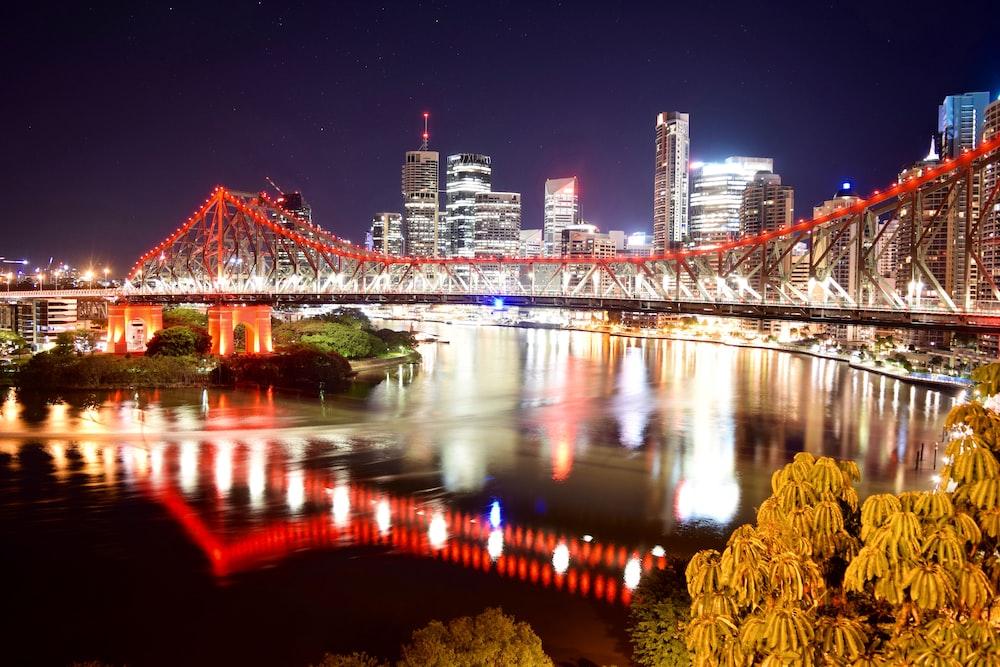 orange and black bridge