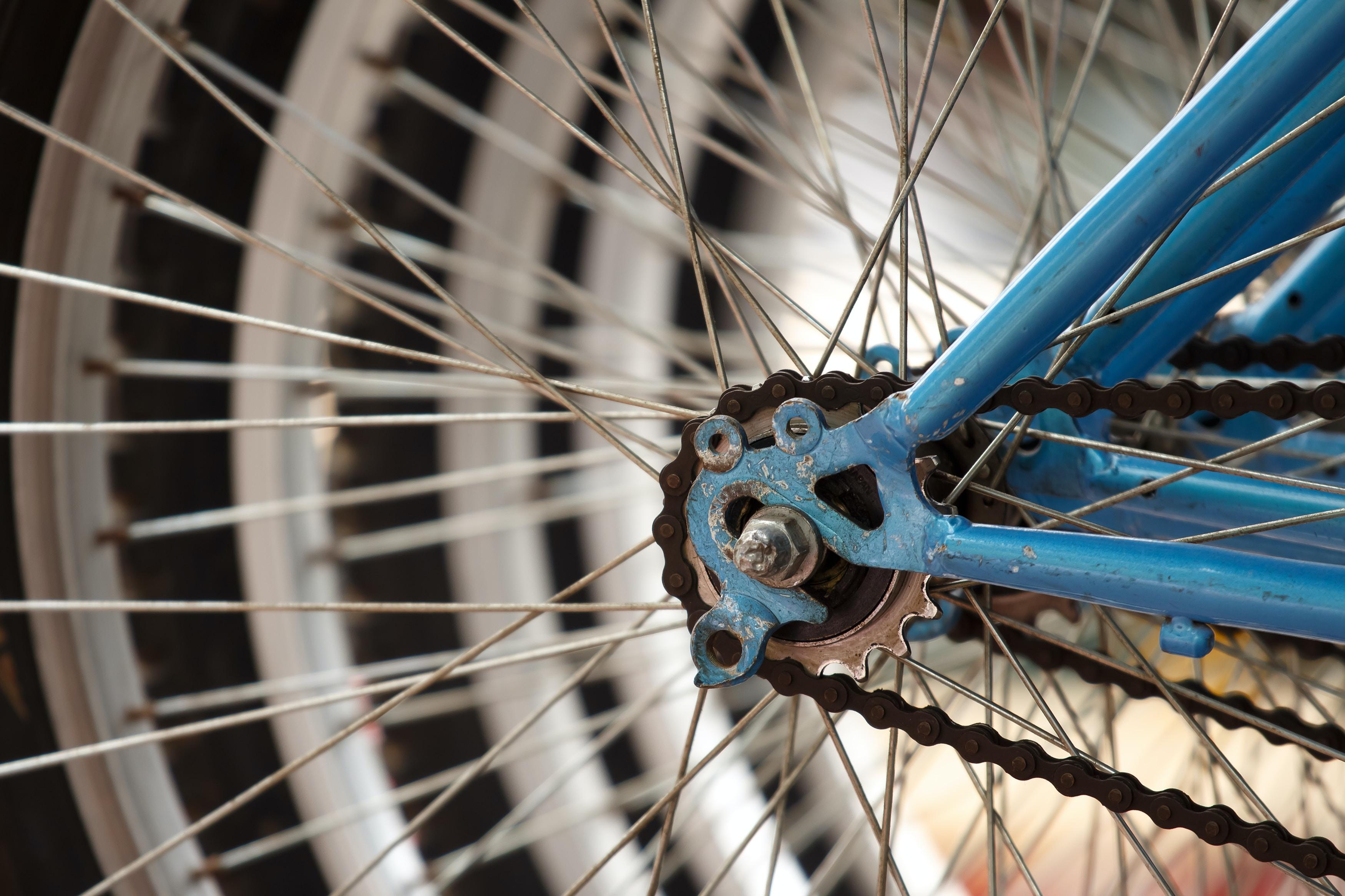 gray bike rim