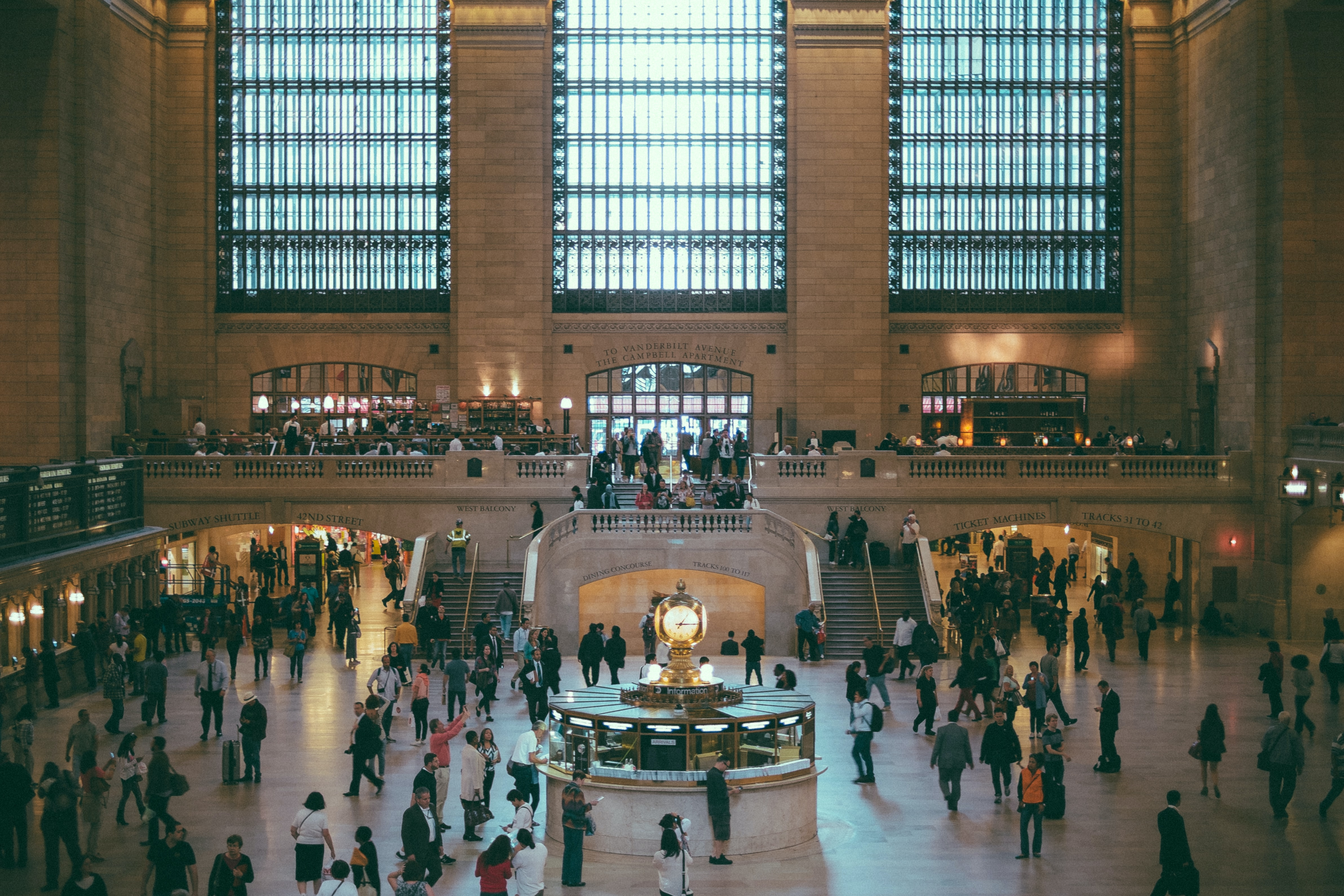 The crowded interior of Grand Central Terminal in New York