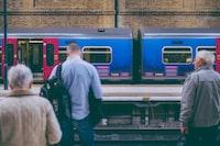 Waiting at King's Cross railway platform