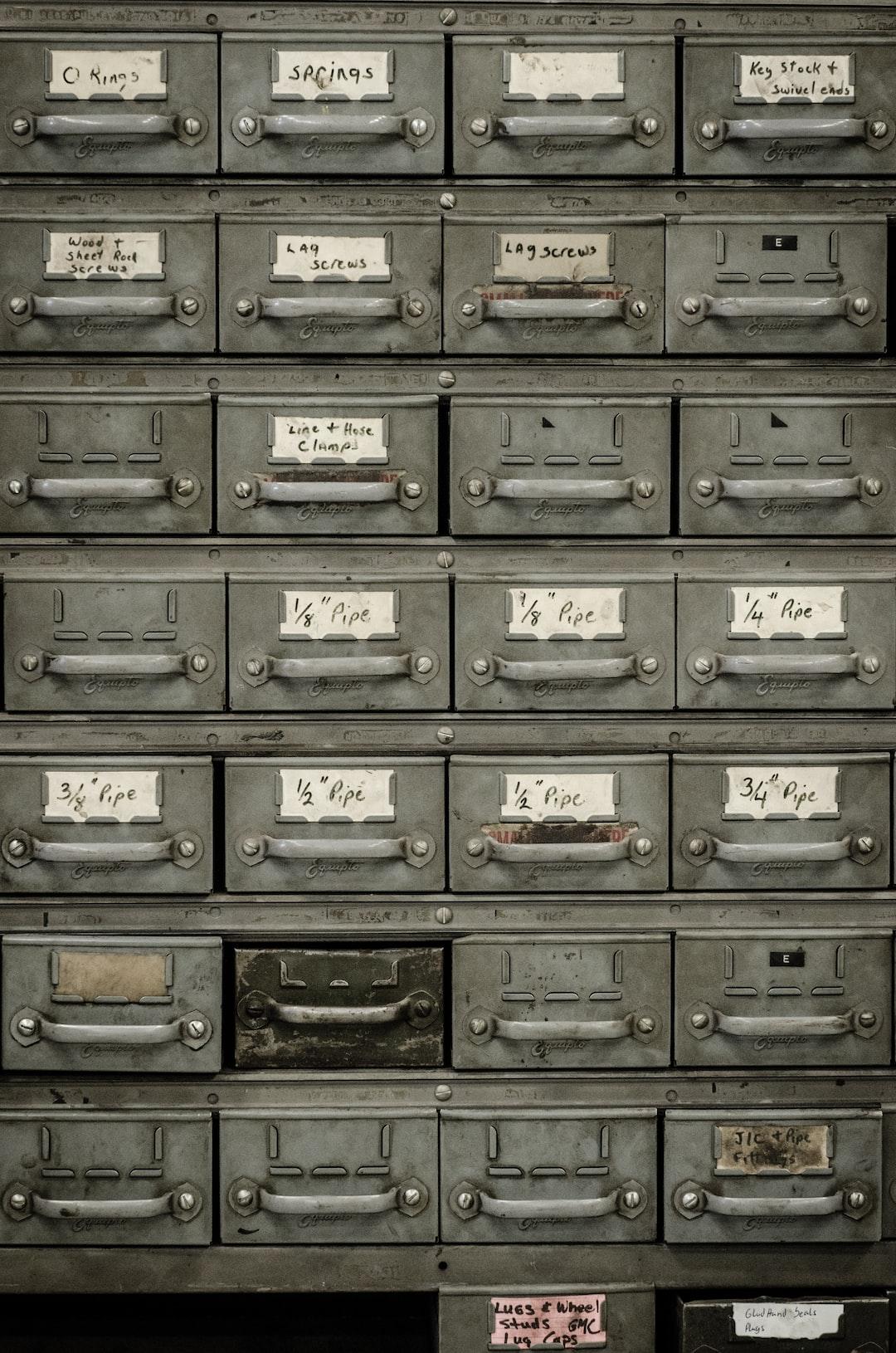 Organized document cabinet