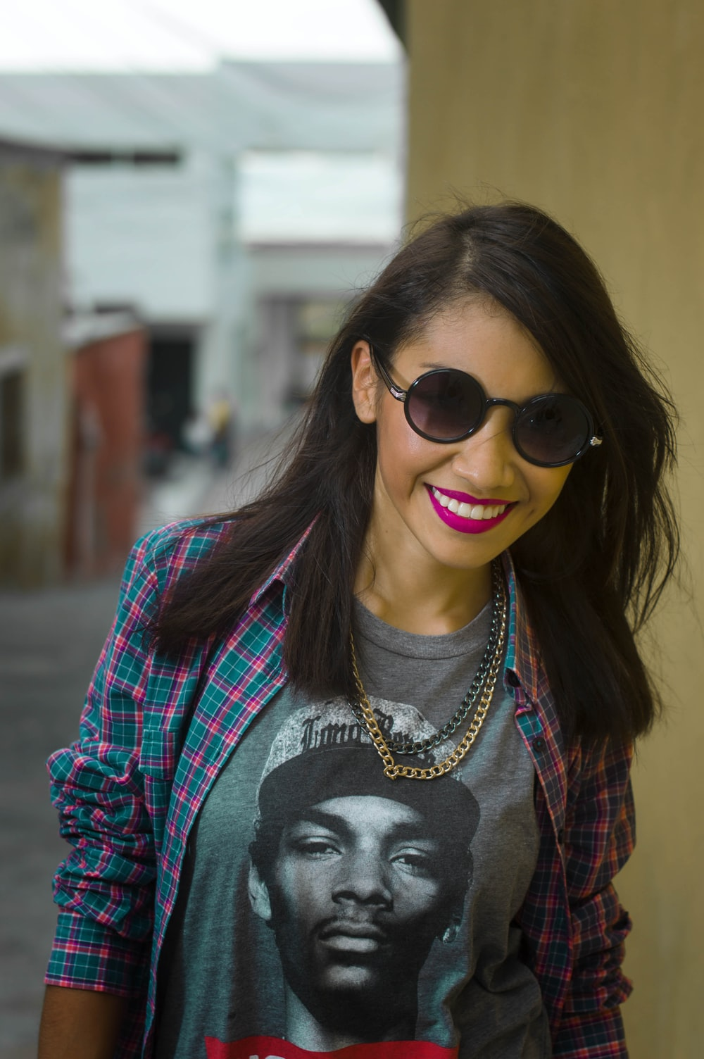selective focus photo of woman wearing sunglasses