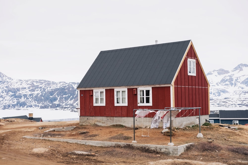 photo of red and black house