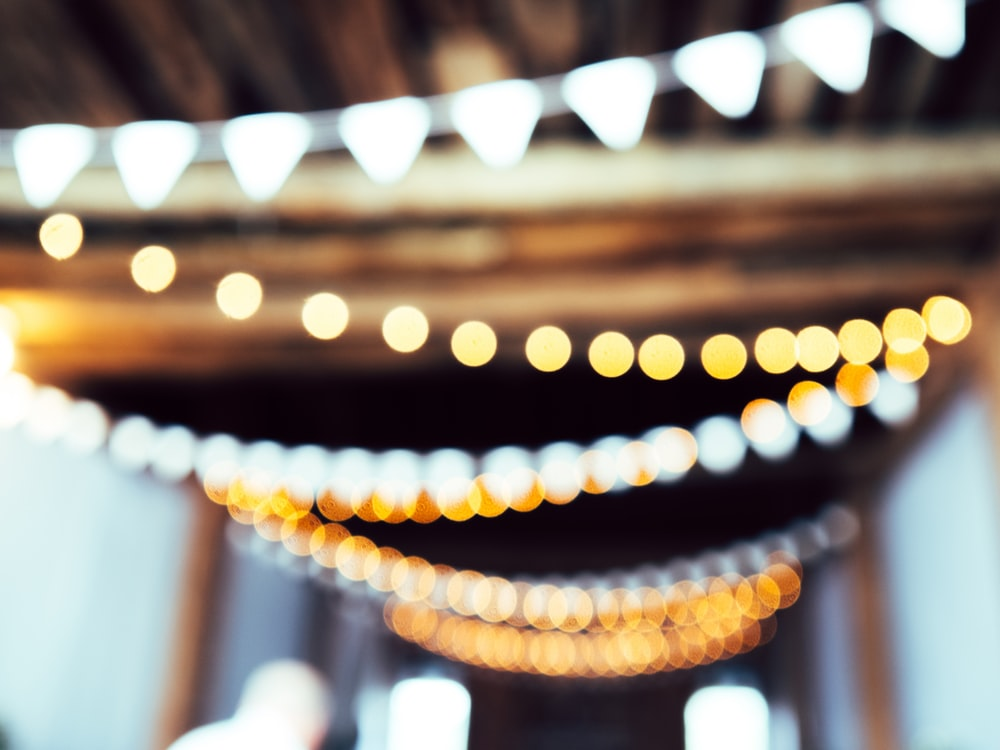 Macro view of lights in a party in Gettysburg