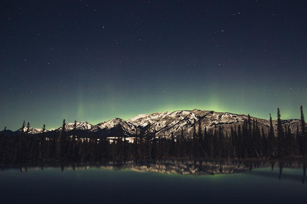 reflecting photography mountain